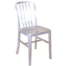 Armless Slat Back Aluminum Chair
