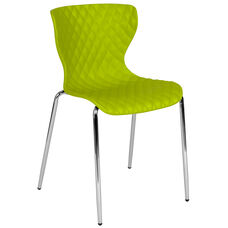 Lowell Contemporary Design Citrus Green Plastic Stack Chair