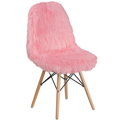 Our Shaggy Dog Light Pink Accent Chair is on sale now.