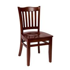 Princeton Mahogany Wood School Chair - Wood Seat