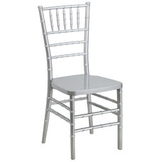 "HERCULES PREMIUM Series Silver Resin Stacking Chiavari Chair with <span style=""color:#0000CD;"">Free </span> Cushion"