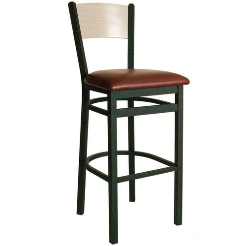Our Dale Metal Frame Barstool - Wood Back and Vinyl Seat is on sale now.