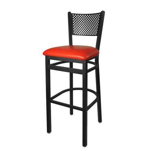 Our Polk Metal Perforated Back Barstool - Red Vinyl Seat is on sale now.