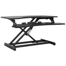 """HERCULES Series 32.6""""W Black Sit / Stand Height Adjustable Desk with Height Lock Feature"""