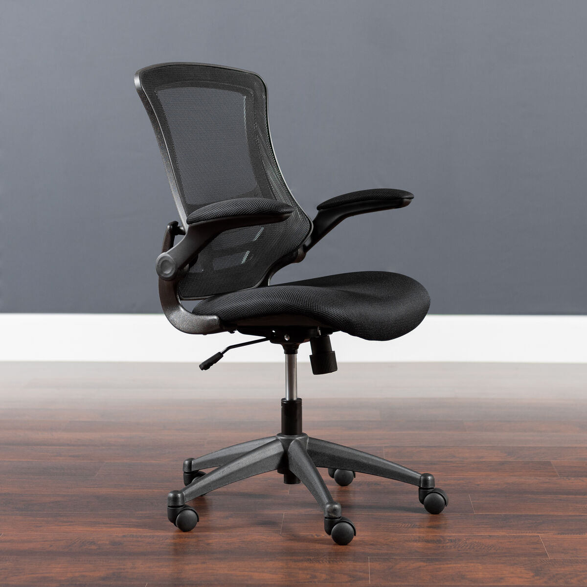 Black Mid Back Task Mesh Chair Bl X 5m Bk Gg Churchchairs4lesscom