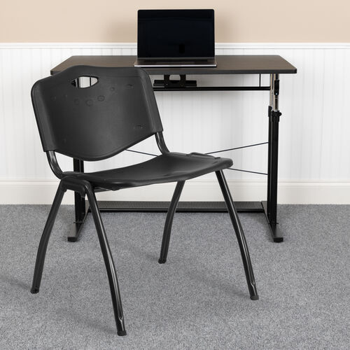 Our HERCULES Series 880 lb. Capacity Black Plastic Stack Chair is on sale now.
