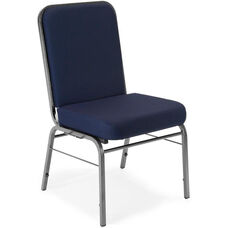 Comfort Class 300 lb. Capacity Stack Chair - Navy Fabric