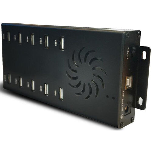 Our USB 10 Port Hub and Power Adapter Kit with Built-In Cable Management - 3