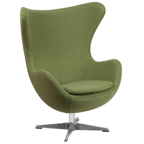 Our Grass Green Wool Fabric Egg Chair with Tilt-Lock Mechanism is on sale now.