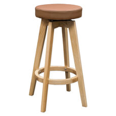 Multi Indoor Purpose Rex Wood Swivel Counter Stool - Brown and Natural