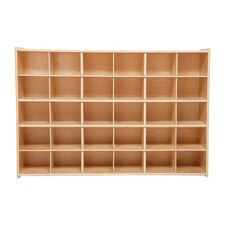 30 Cubbie Tray Baltic Birch Plywood Storage Unit with Tuff-Gloss UV Finish - 50.75''W x 12''D x 33.88''H