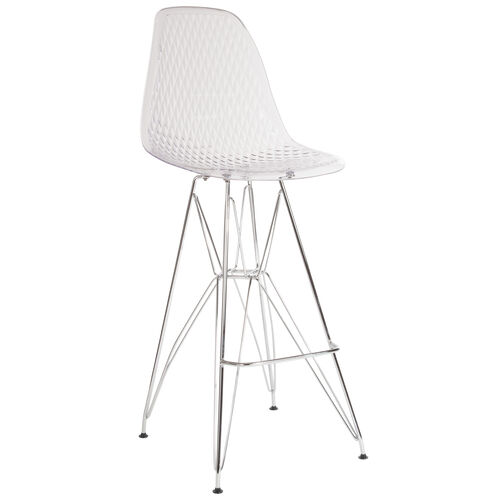 """Our 30.25"""" High Clear Acrylic Barstool with Chrome Legs is on sale now."""