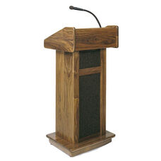 321 Series Modular Sound Wooden Lectern - Natural Oak - 22