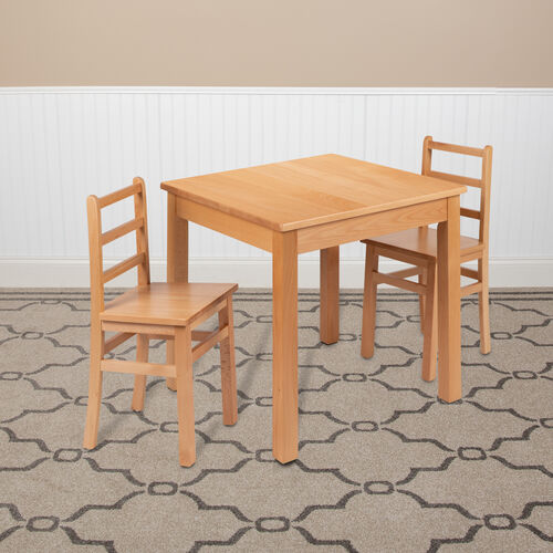 Our Kids Natural Solid Wood Table and Chair Set for Classroom, Playroom, Kitchen is on sale now.