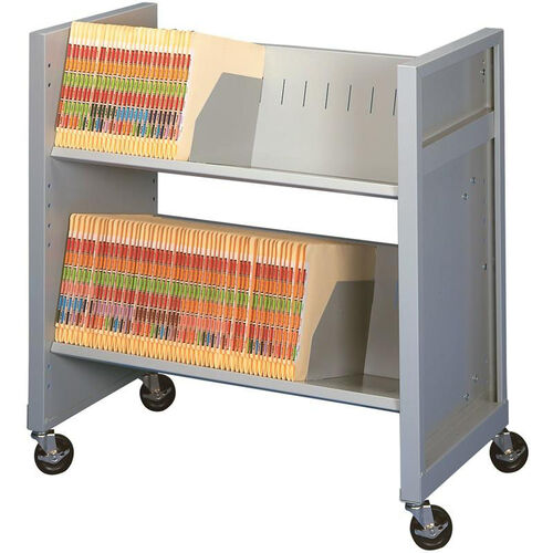 Our Basic File Cart with 2 Shelves - Light Gray is on sale now.