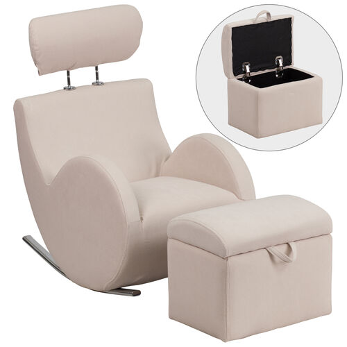 Our HERCULES Series Rocking Chair with Storage Ottoman is on sale now.