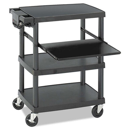 Our Safco® Multimedia Projector Cart - Four-Shelf - 27-3/4w x 18-3/4 x 34-3/4 - Black is on sale now.