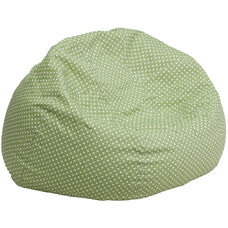 Oversized Green Dot Bean Bag Chair