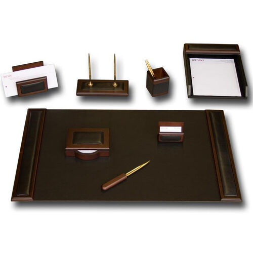 Our Wood and Leather 8 Piece Desk Set - Walnut and Black is on sale now.