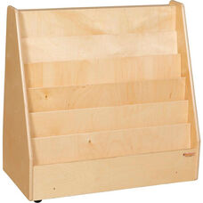 Wooden Mobile Flush Markerboard Book Display - 30
