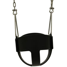 Nylon Reinforced Rubber Infant Swing Seat with Durable Steel Rivets and Zinc Plated Steel D-Rings - 10