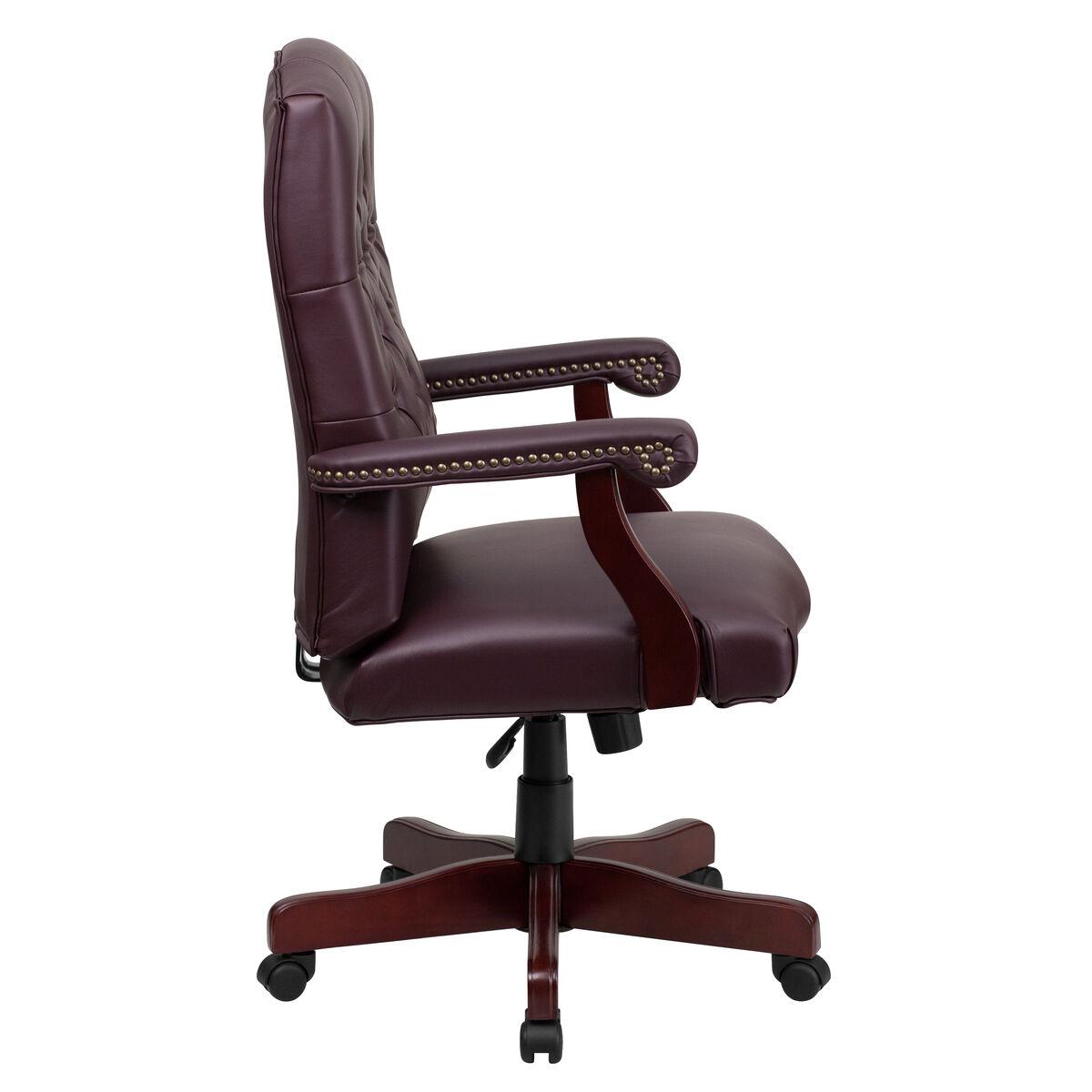 burgundy high back chair 801l lf0019 by lea gg churchchairs4less com