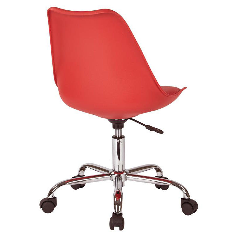... Our Ave Six Emerson Armless Task Chair With Chrome Base And Casters    Red Is On