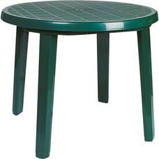 Sunny Outdoor Resin 35.5''D Round Dining Table with Umbrella Hole - Green