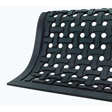 Anti-Fatigue Black Comfort Flow Drainable Floor Mat