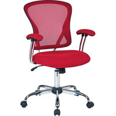 Ave Six Juliana Task Chair with Mesh Seat - Red