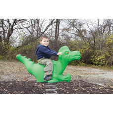 weather resistant Powder Coat Paint Finished Rotomolded Plastic Dinosaur Spring Rider