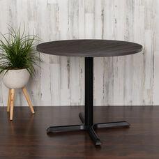 "36"" Round Multi-Purpose Conference Table in Rustic Gray"