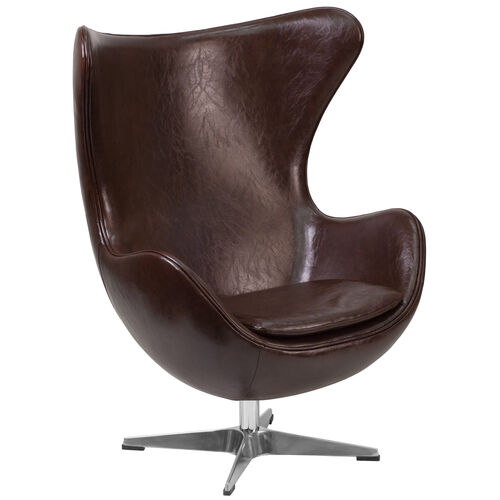 Our Brown LeatherSoft Egg Chair with Tilt-Lock Mechanism is on sale now.