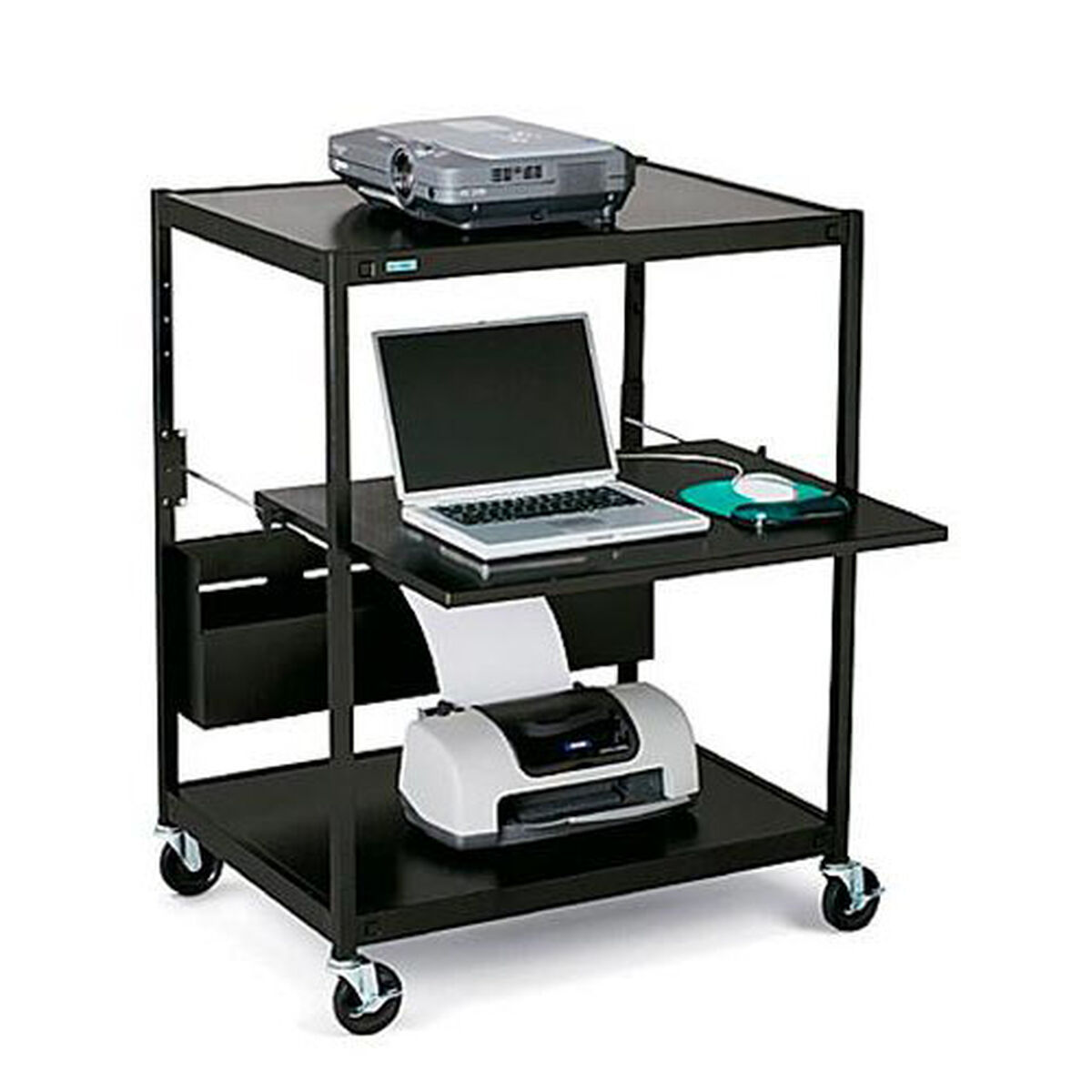 Bretford mobile notebook data projector cart with 6 for Furniture 4 less outlet