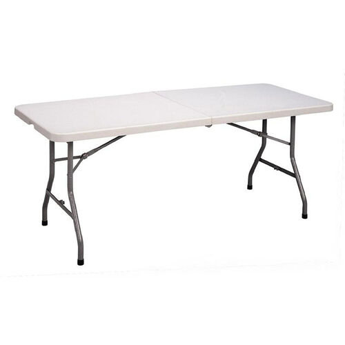 Our Economy Blow-Molded Rectangular Plastic Top Folding Table - 30