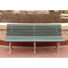 St. Pete 6' Recycled Plastic Bench with Aluminum Base