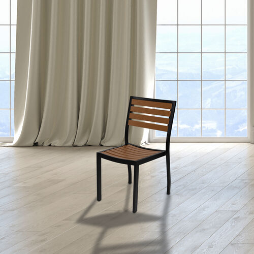 Our Outdoor Side Chair with Faux Teak Poly Slats is on sale now.
