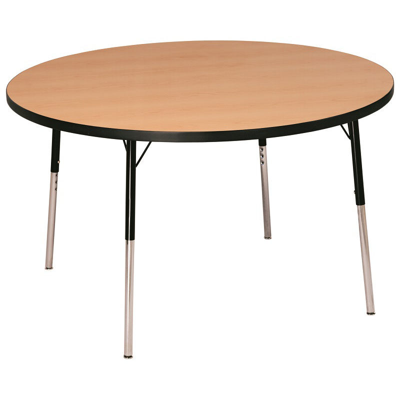 Our Laminate Top Adjustable Height Round Activity Table With Particleboard  Core   60