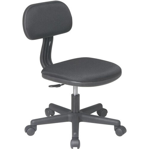 Our OSP Designs Armless Computer Task Chair with Seat Height Adjustment and Casters - Black is on sale now.
