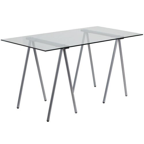 Our Glass Computer Desk with Silver Metal Frame is on sale now.