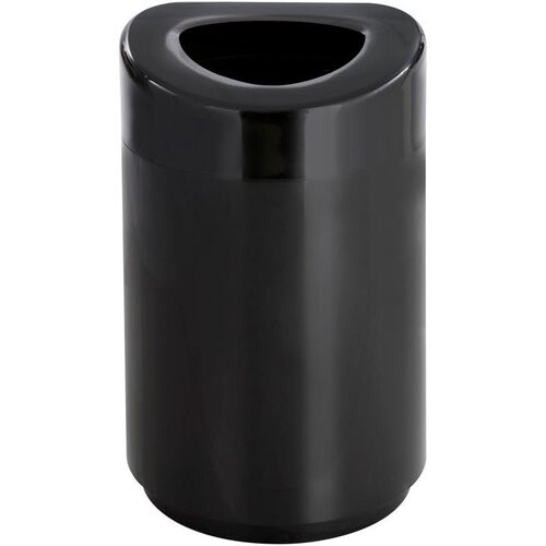 Open Top Receptacle 30 Gallon Indoor or Outdoor Receptacle - Black