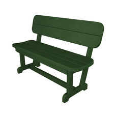 POLYWOOD® Commercial Collection Park Bench - Green