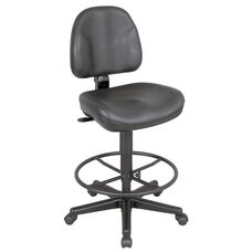 Premo Height Adjustable Black Leather Ergonomic Chair