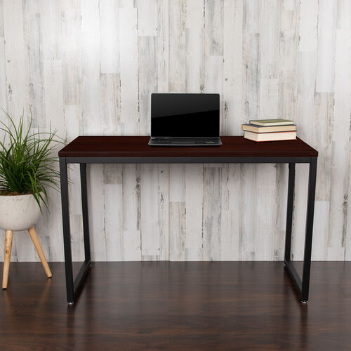 """Our Commercial Grade Industrial Style Office Desk - 47"""" Length (Mahogany) is on sale now."""