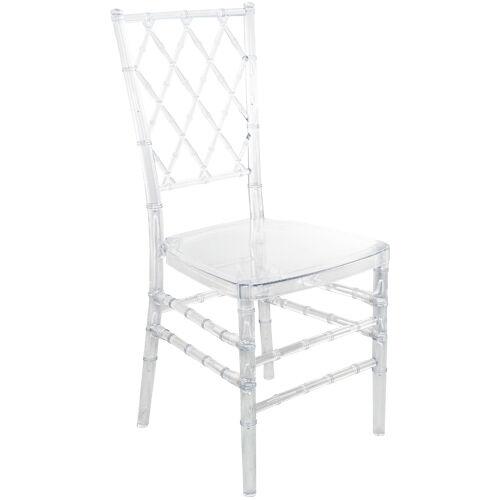 Advantage Clear Diamond Resin Chiavari Chair