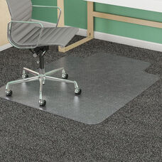 SuperMat® Vinyl Studded 45''W x 53''D Chair Mat with Lip - Clear