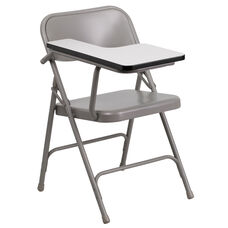 Premium Steel Folding Chair with Right Handed Tablet Arm