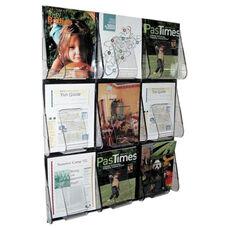 Deflecto Magazine Wall Rack - 9 Pocket - 27 3/8