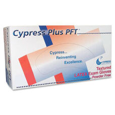 Cypress Medical Products Textured Latex Exam Gloves - Large
