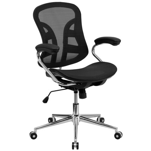 Our Mid-Back Transparent Black Mesh Swivel Task Office Chair with Chrome Base and Arms is on sale now.